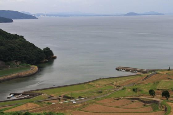 棚田の先には小さな漁港がある。