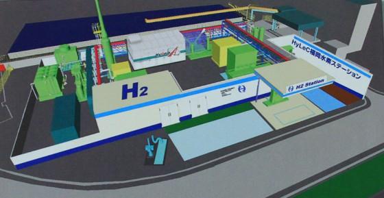 中部水処理センターに併設される水素ステーション完成予想図