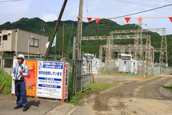 ダムの撤去と共に解体される藤本発電所。