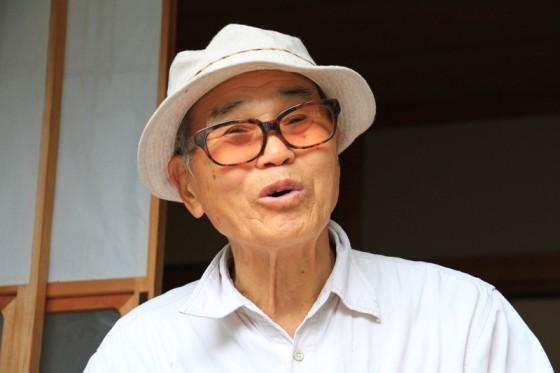 """""""和嶋""""の先代で旧坂本村議会議員だった福嶋英治さんに話を伺った。"""