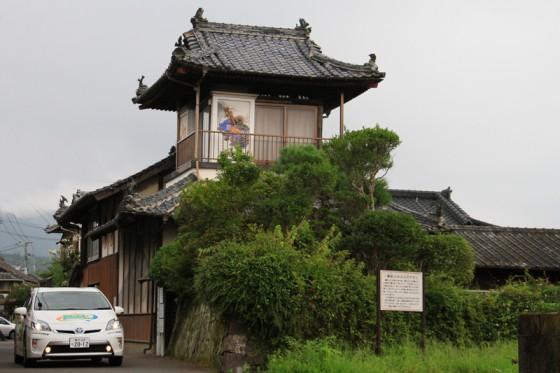 安心院には江戸時代の鏝絵(こてえ)が数多く残る。