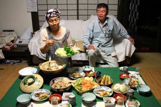 ご主人と女将さんが丹誠込めて作ってくれた手料理の数々。