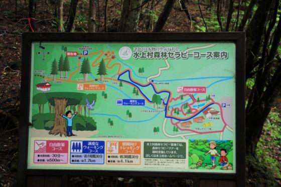所用時間によって森林セラピーコースが設定されている。