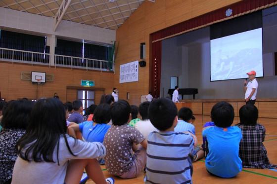 ちょっと難しい環境やエネルギーの話もしっかり聞いてくれた子供たち。