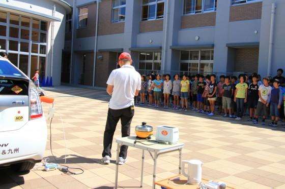 飛行船教室の後はプリウスPHVのデモンストレーション。