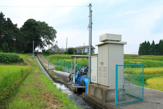 道の駅 竹田にある防火兼農業用水を活用した小水力発電施設。(最大出力25kw)