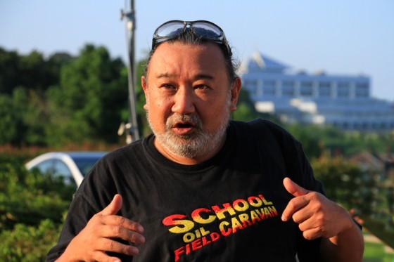 地球を救う活動について熱く語る上井さん。
