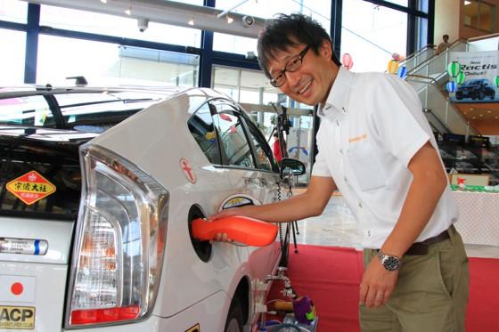 今回の展示イベントを担当していただいた本田さん。