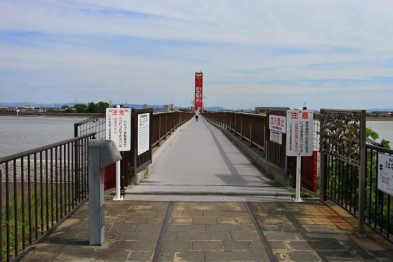 現在は歩行者専用橋として一般に時間限定で公開している。