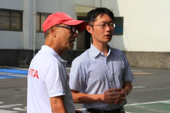 今日のエコミッション展示イベントを指揮する営業企画室長の川村さん。